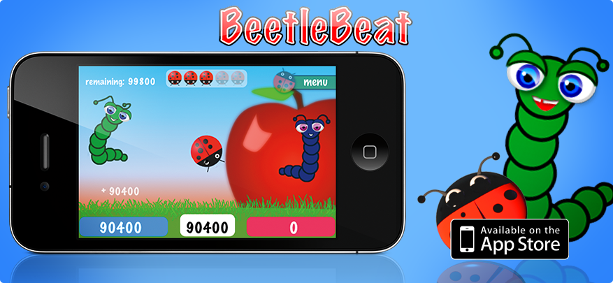 Beetle Beat a simple pong-like iPhone game for iPhone and iPod
