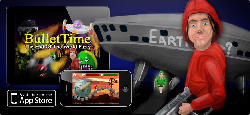 Bullet Time (End of The World Party), universal app for iPad, iPhone & iPod.